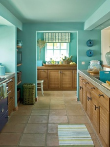 kitchen with ceiling same colour